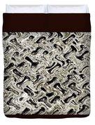 Gray Abstract Swirls Duvet Cover