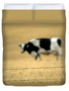 Grazing Cow, Alberta, Canada Duvet Cover