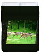 Grazing Doe Duvet Cover