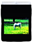 Grazing Horse Duvet Cover by Bill Cannon