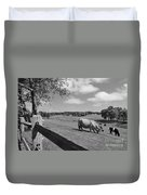 Grazing The Day Away Duvet Cover by Catherine Reusch Daley