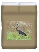 Great Blue Heron - Ardea Herodias Duvet Cover
