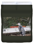 Great Blue Heron - Chicken Of The Sea Duvet Cover
