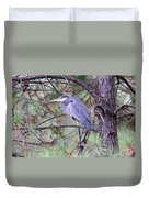 Great Blue Heron - Happy Place Duvet Cover