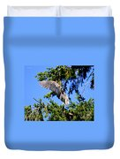 Great Blue Heron Cover Up Duvet Cover