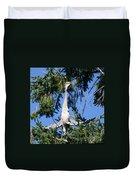 Great Blue Heron Meditation Pacific Northwest Duvet Cover