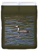 Great Crested Grebe Duvet Cover