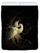 Great Egret In Great Light Duvet Cover