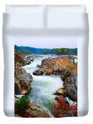 Great Falls On The Potomac River In Virginia Duvet Cover