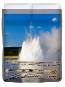 Great Fountain Geyser Duvet Cover