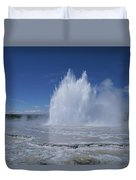 Great Fountain Geyser Seen Duvet Cover