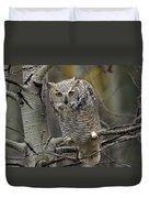 Great Horned Owl Pale Form Kootenays Duvet Cover