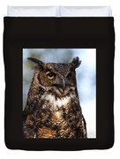 Great Horned Owl Portrait Duvet Cover