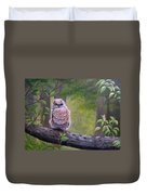 Great Horned Owlette Duvet Cover