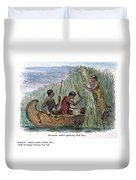 Great Lakes: Canoe, 19th C Duvet Cover