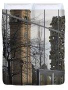 Great Northern Clocktower Reflection - Spokane Washington Duvet Cover