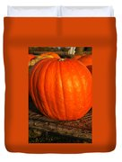 Great Orange Pumpkin Duvet Cover
