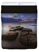 Great South Bay Sunset Duvet Cover