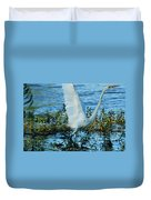 Great White And Blue Duvet Cover