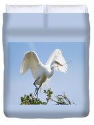 Great White Egret Duvet Cover