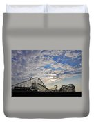 Great White Roller Coaster - Adventure Pier Wildwood Nj At Sunrise Duvet Cover