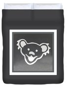Greatful Dead Dancing Bear In Negative Duvet Cover