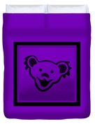 Greatful Dead Dancing Bear In Purple Duvet Cover