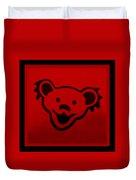 Greatful Dead Dancing Bear In Red Duvet Cover