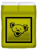 Greatful Dead Dancing Bear In Yellow Duvet Cover
