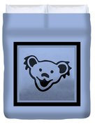 Greatful Dead Dancing Bears In Cyan Duvet Cover