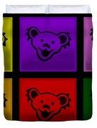 Greatful Dead Dancing Bears In Multi Colors Duvet Cover