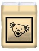 Greatful Dead Dancing Bears In Sepia Duvet Cover