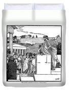 Greek Assembly Duvet Cover