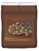 Greek Figs Duvet Cover by Ylli Haruni