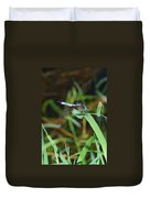Green And Blue Dragonfly Duvet Cover