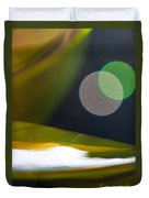 Green And Gold Abstract Duvet Cover
