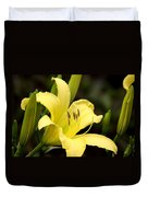 Green And Yellow - Lily Duvet Cover