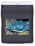 Green Arboreal Alligator Lizard Duvet Cover
