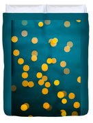 Green Background With Gold Dots  Duvet Cover