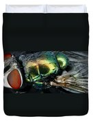 Green Blow Fly Duvet Cover