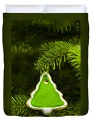 Green Branches Of A Christmas Tree Duvet Cover