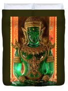 Green Buddha Duvet Cover