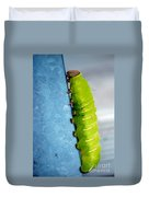 Green Caterpillar  Duvet Cover