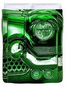 Green Chrome Duvet Cover