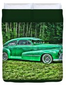Green Classic Hdr Duvet Cover