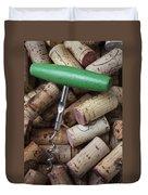 Green Corkscrew Duvet Cover