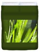 Green Dewy Grass  Duvet Cover by Elena Elisseeva