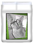 Green Eyed Monster Duvet Cover
