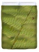 Green Ferns Blend Together Duvet Cover