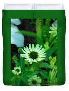 Green Flower Duvet Cover